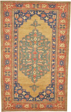 Gold 6' 7 x 10' 6 Geometric Kazak Oriental Rug | Oriental Rugs | eSaleRugs - great site for one of a kind rugs