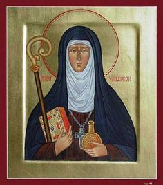 Saint Walpurga (c. 710 – 777 or 779) Walpurga was born in Devonshire, England of a family of the local aristocracy. She was the daughter of St. Richard the Pilgrim, one of the...(Read the rest of her story here:) https://www.facebook.com/St.Eugene.OMI/photos/a.1490771924522168.1073741828.1490724774526883/1550120235254003/?type=1&theater