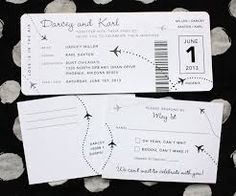 Airline Ticket Archives - Page 9 of 26 - emDOTzee Designs Black And White Wedding Invitations, Simple Wedding Invitations, Passport Wedding Invitations, Wedding Stationery, Wedding Paper, Wedding Cards, Invitation Design, Invitation Cards, Airplane Wedding