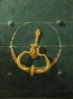 Brass Door Knocker painting