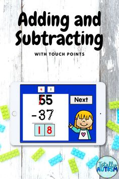 Students with autism do well using touch point visuals to help with addition and subtraction.  this Boom Card deck includes double-digit subtraction with and without regrouping Math Addition, Addition And Subtraction, Card Deck, Deck Of Cards, Touch Math, Special Education Math, Educational Games For Kids, Classroom Games, Adding And Subtracting