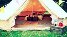 no indoor heating - good set up. bell tents, norfolk, camping, holidays, glamping, UK