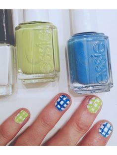 #ManicureMonday DIY: Gingham Print Nails