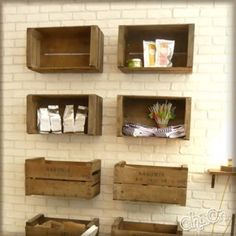 Exceptionnel Crates For Shelves/storage. I Just Donu0027t Know How Easy They Are