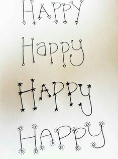 Diy hand lettering ~ The Happy Homebodies: Hand Lettering Hand Lettering Alphabet, Doodle Lettering, Creative Lettering, Lettering Styles, Calligraphy Letters, Brush Lettering, Caligraphy, Typography, Lettering Ideas