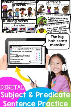 Writing sentences has gone DIGITAL! Sentence writing can be a tricky skill, but I've got you covered with this scaffolded, Google Slides™ resource that will help you teach your students how to ensure they have a complete sentence! This resource address these issues by teaching your students about subject and predicate in simple sentences so they can tell where their sentences start and begin. This resource is perfect for distance learning, homeschooling, or classroom use. Writing Complete Sentences, Writing Sentences, Simple Sentences, Sentence Writing, Writing Curriculum, Writing Lessons, Homeschooling, Writing Ideas, Back To School Organization