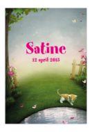 www.kaartjesenco.be meisje Geboortekaartje Satine