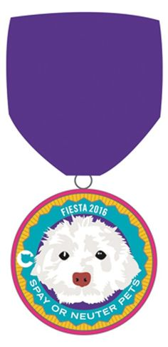 The Cannoli Fund for Dogs and Cats' 2016 Fiesta Meda featuring Crofton the poodle mix! Order at the link for Fiesta 2016! #fiestamedals