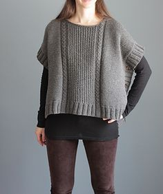 argo Poncho uses aran/bulky-weight yarn and is worked flat, in two pieces (front and back), and attached at the shoulders using the three needle bind-off technique ...