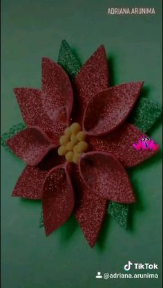 Christmas Crafts For Kids, Xmas Crafts, Christmas Art, Diy Crafts, Paper Flowers Craft, Flower Crafts, Paper Crafts, Diy Halloween Decorations, Christmas Decorations