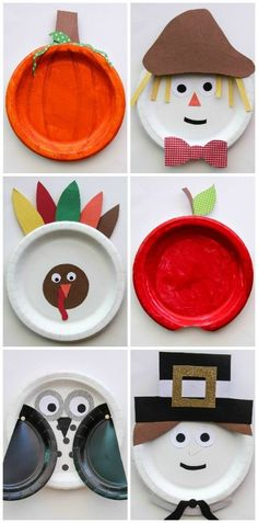 Fall Paper Plate Crafts for Kids ~ Rusty and Rosy