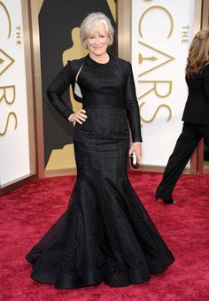 A Great Way to Honor the Mothers of the Bride and Groom: Fabulous Wedding Dresses:  Glenn Close Zac-Posen Dress at the Oscars