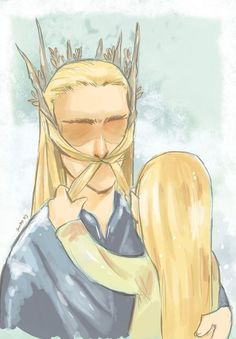 """""""Look Father! You're a dwarf!"""" Oh, little Legolas..."""