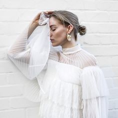 """1,004 Likes, 104 Comments - MISS BJERSLAND (@gabriellabjersland) on Instagram: """"Lace x mesh 🖤 Sunday spent well in this gorgeous number from @mossmanclothing  #allwhite #sunday…"""""""