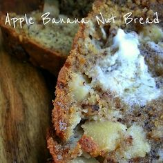 Banana nut bread is one of my favorite breads to make. When I've been super lazy about eating those purchased-with-well-intentions bananas, . No Yeast Bread, Bread Baking, What's Cooking, Cooking Recipes, Banana Nut Bread, What To Cook, Lazy, Deserts, Sweets