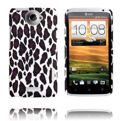 Leopard Fashion (Vit Ver. II) HTC One X-Skal