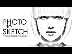 Learn How To Easily Convert A Portrait Photo Into Pencil Sketch With Photoshop Including