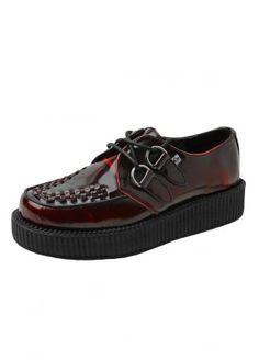 TUK Shoes Burgundy Rub-Off Viva Lo Creeper, £99.99
