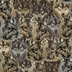 Anti Pill Fleece Fabric- Wolves Heads at Joann.com
