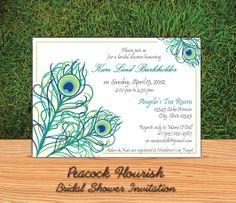 Peacock Flourish Invitation