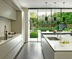 Find This Pin And More On Home Interior Design Sleek Minimalist Modern Kitchen
