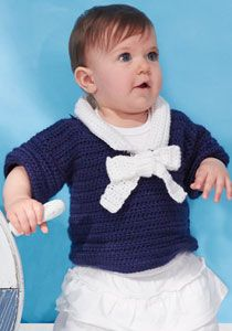 Free Crochet Pattern - Adorable Nautical Toddler's Top!