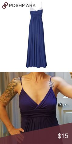 Navy Blue Sweetheart Maxi Dress NWOT Very soft, fittes through ribcage and then flowy, could easily be dressed up or down Beachcoco Dresses Maxi
