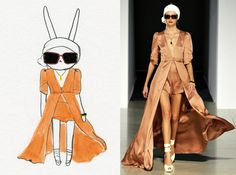 I love how Fifi Lapin illustration emulates fashion designs from the runway!