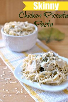 Skinny Chicken Piccata Pasta - A light summer recipe by Becky's Best Bites. A delicious recipe for dinner!
