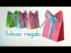 Manualidades: BOLSAS de PAPEL para REGALO - Innova Manualidades - YouTube