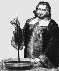 The Pressure of Gases    Torricelli immersed  at the bottom of a sea  of elemental air  considers the existence of a vacuum    (a space repugnant to nature  and philosophers  who advocate resistance)    but Torricelli bearing up