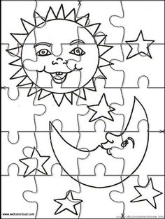 Printable jigsaw puzzles to cut out for kids Space 38 Coloring Pages
