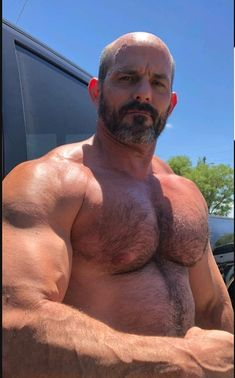 I like bears, rugged men, muscular and beefy guys I don't own any of these photo's unless they are tagged as personal [ABOUT THE BOY] - Enjoy your stay Hairy Hunks, Hairy Men, Bearded Men, Muscle Bear Men, Muscle Men, Muscle Fitness, Male Pattern Baldness, Rugged Men, Bald Men