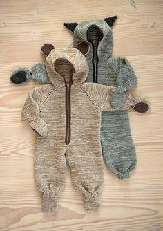 Babydress kanin, bjørn og katt