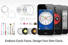 Diseña tu propio reloj en el iPhone o iPad y lo mejor es la descarga Gratis de la aplicación en iTunes Store