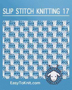 Slip Stitch Knitting Gridlock - Easy To Knit - Slip Stitch Knitting, Knitting Stiches, Knitting Blogs, Knitting Charts, Loom Knitting, Knitting Socks, Baby Knitting, Knit Stitches, Crochet Motifs