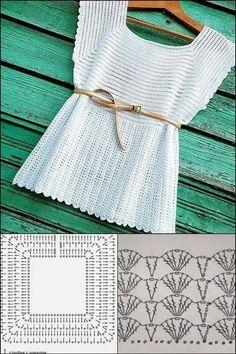 Gilet Crochet, Crochet Jacket, Crochet Cardigan, Crochet Stitches, Knit Crochet, Crochet Designs, Crochet Patterns, Mode Crochet, Crochet Summer Tops