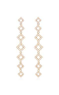 Lisa Michelle Earrings In 14K Rose Gold by Dana Rebecca Designs - Moda Operandi