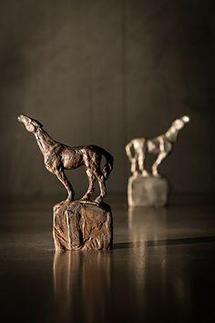 "Search Maquette by Stephanie Revennaugh Bronze ~ 4"" x 3"""
