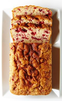 A most delicious and easy Cranberry Orange Loaf. #BiteMeMore #cranberries