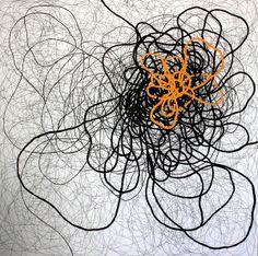 OLIMPIA VELASCO, Nudo.  Acrylic on fabric 150 x 150 cm.  2009.  At Gerhardt Braun Gallery, http://gb-gallery.es/artists