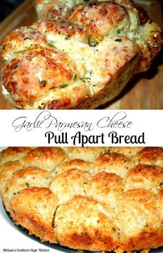 Crispy and golden serve this pull apart bread with a marinara sauce or a cheese fondue for dipping!