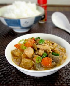Japanese food: chicken vegetable stew with koniaku. pickledplum.com food recipes