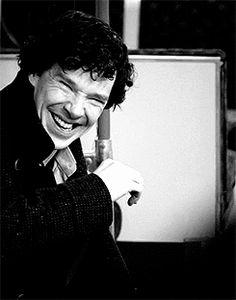 Benedict Cumberbatch laughing just makes me happy.
