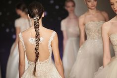 How to hairstyle: Reem Acra Bridal 2016 - decorated braid | allure.com