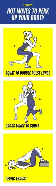 Best Workout Plans : How to perk up your booty in 3 weeks: These moves will help to lift and tighten Reto Fitness, Body Fitness, Health Fitness, Fitness Plan, Group Fitness, Fitness Weightloss, Fitness Workouts, At Home Workouts, Body Workouts