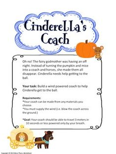 Fairy Tale STEM--Cinderella's Coach by More Than a Worksheet | Teachers Pay Teachers