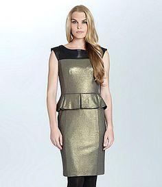 Cynthia Steffe Dylan Metallic Peplum Dress #Dillards