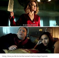"""""""Do we have any limes?!"""" - Crazy Barbara, poor Butch and Tabitha #Gotham"""