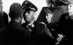 The commander of the Wiking Division, SS-Gruppenführer Felix Steiner, talks to his men in the summer of 1942.